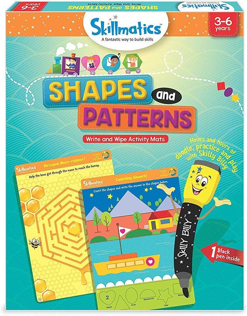 Skillmatics Educational Game: Shapes and Patterns - Kuknu